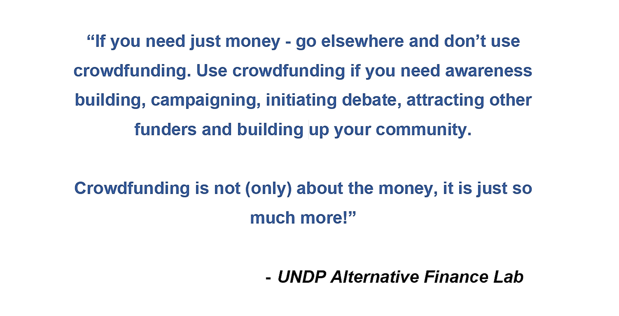 Crowdfunding in UNDP – guidance for project managers